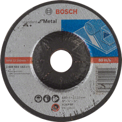 Обдирний круг Bosch Standard for Metal, 125x6,0x22,23 опуклої форми